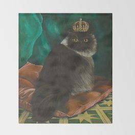 DONETE, A FANCY CHOCOLATE PERSIAN CAT Throw Blanket