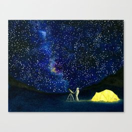 Stars in Her Eyes Canvas Print
