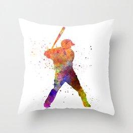Baseball player waiting for a ball 02 Throw Pillow
