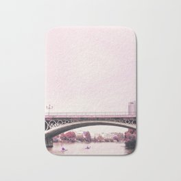 Pink mood at Triana Bridge Bath Mat