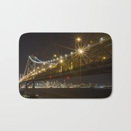 Bay Bridge at Night Bath Mat