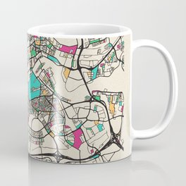 Colorful City Maps: Rotterdam, Netherlands Coffee Mug