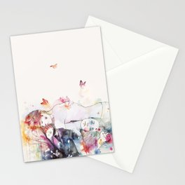 dreamy insomnia Stationery Cards