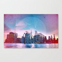 manhattan Canvas Prints featuring Manhattan by Esco