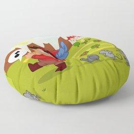 The Pied Piper of Hamelin  Floor Pillow
