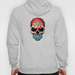 Dark Skull with Flag of Croatia Hoody