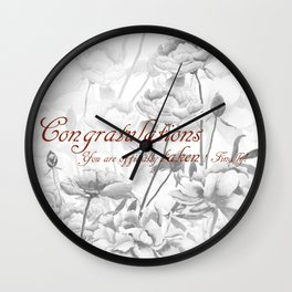 Engagement present marriage present Wall Clock