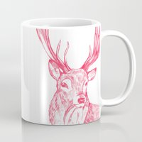 stag Mugs featuring Stag by Emily Stalley