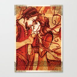 Taming of the Shrew  - Shakespeare Folio Illustration Art Canvas Print