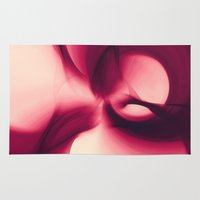 wine Area & Throw Rugs featuring Splash of Wine Fractal by Charma Rose