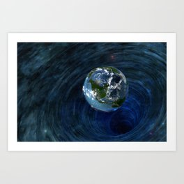 Earth Is In Trouble Art Print