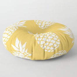Summer, Tropical, Pineapples, Yellow Floor Pillow