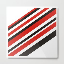 Red n Black is Rad Metal Print