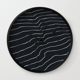 Contour Lines Wall Clock