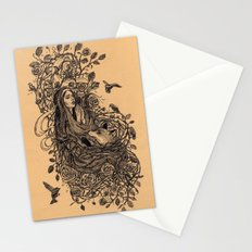 Lady and the fox Stationery Cards