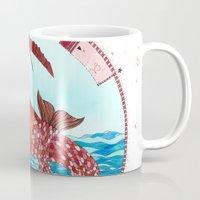 capricorn Mugs featuring Capricorn by Sandra Nascimento