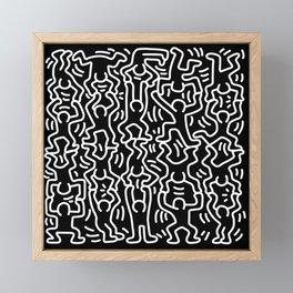 Figures Variation Keith Haring Black Framed Mini Art Print