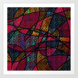 """""""After They Left"""" Bold, Colorful Abstract Art Print"""
