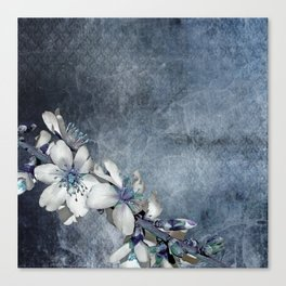 Texture Background Flowering Twig Canvas Print