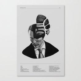 Hannibal Lecter Phrenology Canvas Print