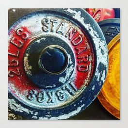 Weight Plate 25 Canvas Print