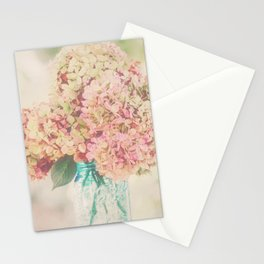 Dreamy Autumn Hydrangea Flowers Still Life Stationery Cards