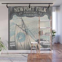 Vintage 2012 Newport, Rhode Island Folk Festival Lithograph Poster Wall Mural
