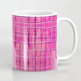 Magenta Madras Plaid Coffee Mug