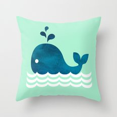 Little Whale Throw Pillow