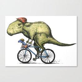 Dino Cycler Canvas Print