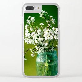 Delicate Petals Clear iPhone Case