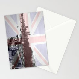London Skyline and Union Jack Flag  Stationery Cards