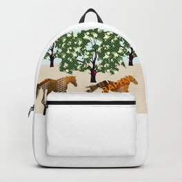 Horses galloping Backpack