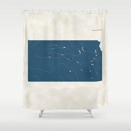 Kansas Parks - v2 Shower Curtain