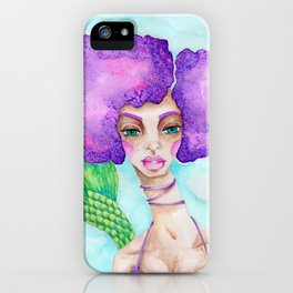 JennyMannoArt Watercolor Illustration/Mermaid Jenny Manno iPhone Case