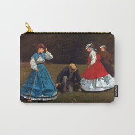 Winslow Homer Croquet Scene Carry-All Pouch