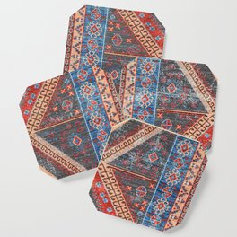 (N16) Boho Moroccan Oriental Artwork for Rustic and Farmhouse Styles. Coaster