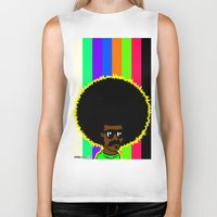 afro Biker Tanks featuring AFRO by watsonpablov