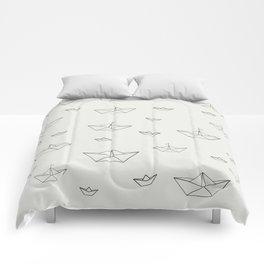 Paper ships Comforters