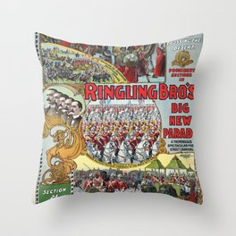 Ringling Brothers Circus Carnival Poster (1899) Throw Pillow