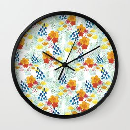 Nordic flowers Wall Clock