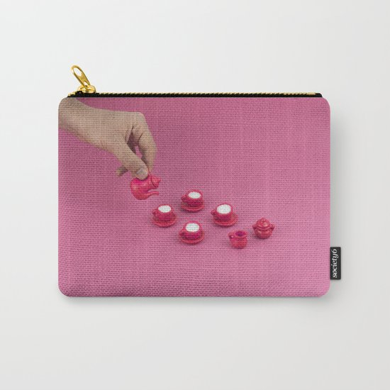 Tiny pink tea party Carry-All Pouch