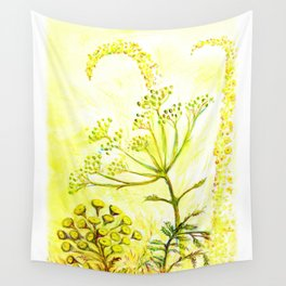 Tansy and Great mullein Wall Tapestry