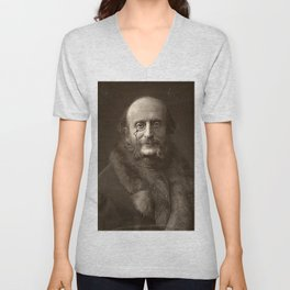 Portrait of Offenbach by Nadar Unisex V-Neck
