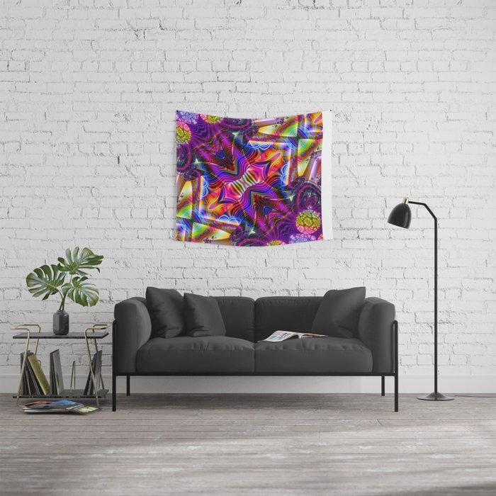 BBQSHOES: Fractal Digital Art Design 3114b Wall Tapestry