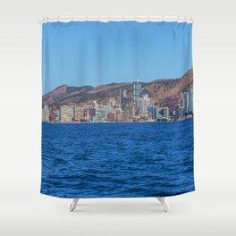 Benidorm city and sea Shower Curtain