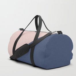 Soft Pink Plus Dark Blue - oblique Duffle Bag