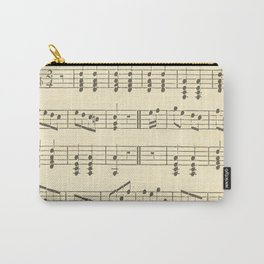 Music Note Pattern Carry-All Pouch