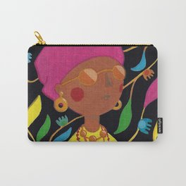 Gouache Woman Carry-All Pouch