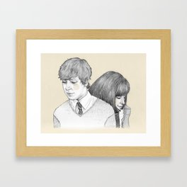 Stuck On The Puzzle Framed Art Print